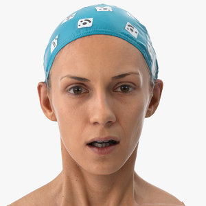 3D athena human head fear model