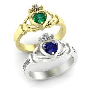 claddagh ring options 3D model