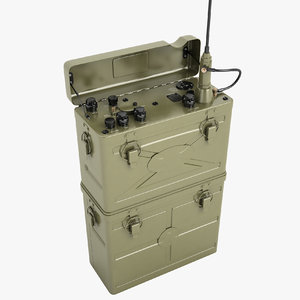 military radio scr-300 3D