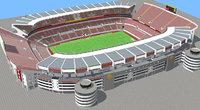 Fictional old stadium - Football club arena