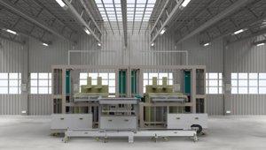 3D large panel receiving loading model