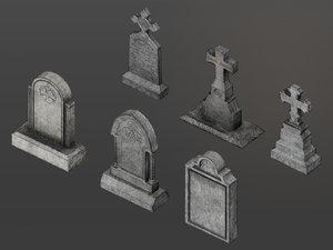 3D grave headstone