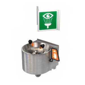 3D model eye wash station