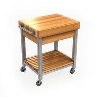 Kitchen Cutting Block Cart 1