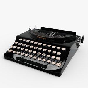 3D typewriter remington vintage model