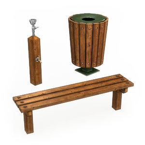 park furniture 3D model