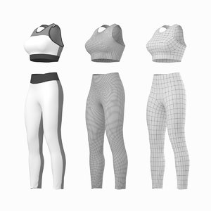 woman sportswear base mesh 3D model