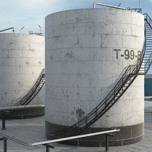 refinery tank 3D