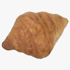 3D realistic croissant 01 model