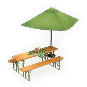 cafe furniture 3D model