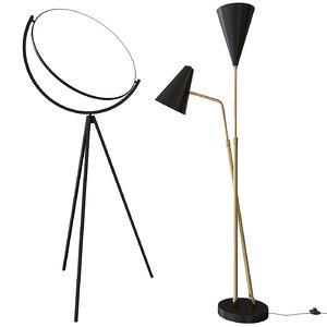 celika floor lamp nuevo 3D model
