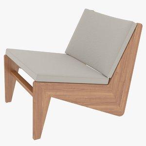 cassina bench wood 3D