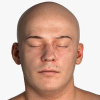 Real PBR Marcus Human Head Eyes Closed AU43