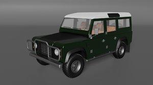 3D model old defender