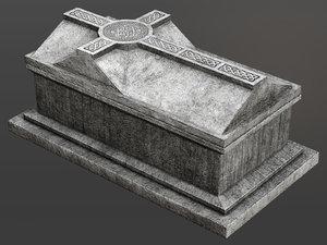 celtic chest tomb 3D model