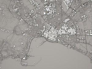 cityscape port italy city 3D model