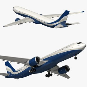 airbus a330neo hifly 3D model