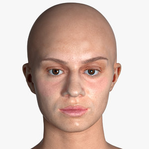 real pbr penelope human head 3D model