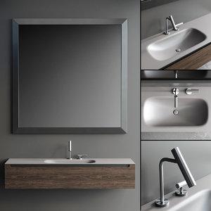 vanity edge unit mirror 3D model