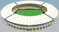 Fictionald old stadium 1 - Bowl with new roof