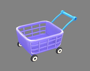 3D model cart shopping