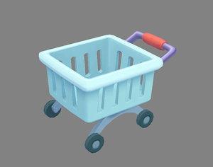 3D cart shopping model