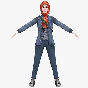 teen hijaber model