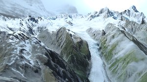 mountain landscape southern alps 3D model