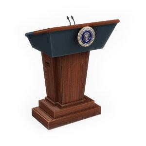 united states presidential podium max
