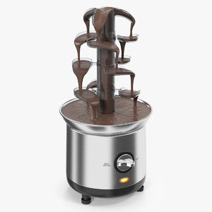 cascading chocolate fountain machine 3D