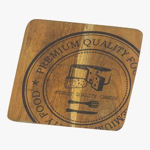cheese board 01 raw 3D
