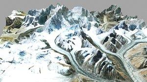 mountain landscape chomolungma everest model