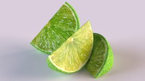 3D model citrus lime