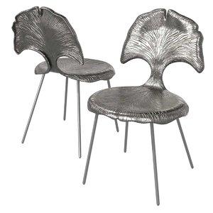 3D chair dark metal