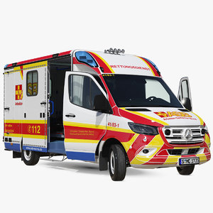 3D asb mercedes sprinter ambulance