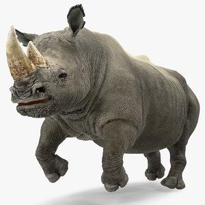 rhino adult running pose model