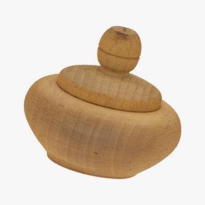 wooden salt cellar 01 3D model