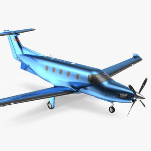 3D model turboprop business aircraft simple