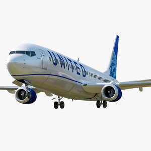 boeing 737-800 united air lines model