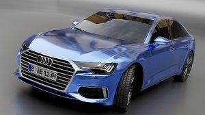 sedan car auto 3D model