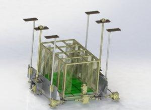 3D model positioning mechanism heavy-duty platform