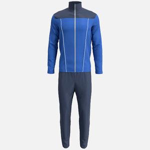 3D jacket pant suit model