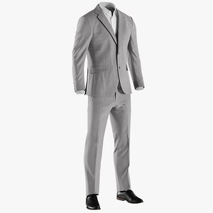 realistic men s suit 3D model