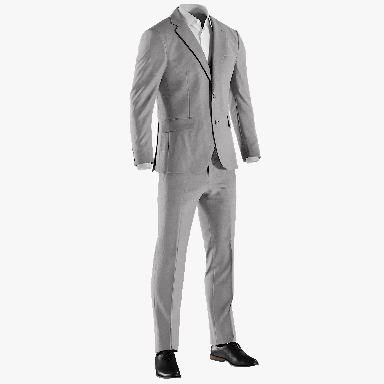 realistic men s suit 3D model