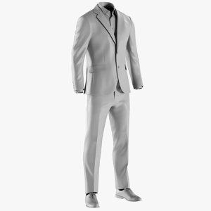 3D mesh men s suit model