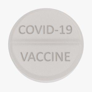 3D model covid-19 pill 1