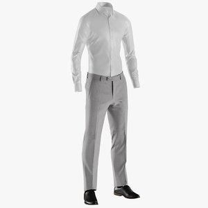 realistic men s pants 3D
