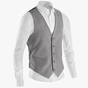 3D realistic men s shirt model