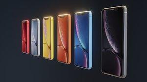 iphone xr phone 3D model