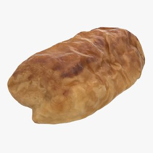 realistic france chocolate croissant 3D model